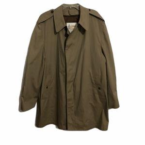 London Fog Maincoats Size 46 Reg Khaki Trench Coat